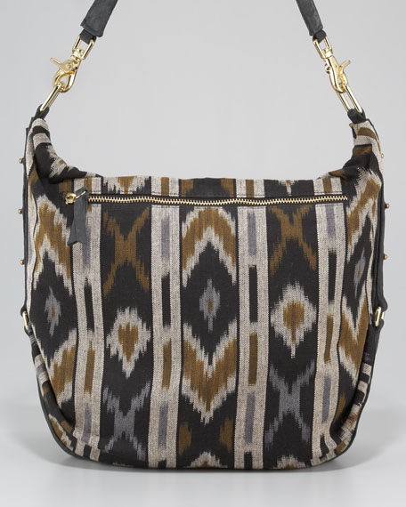 Fleetwood Woven Ikat Satchel Bag