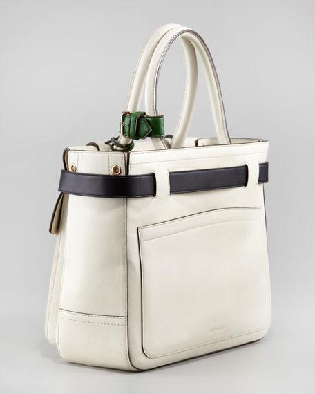 Boxer Tote Bag, Camel/Ivory