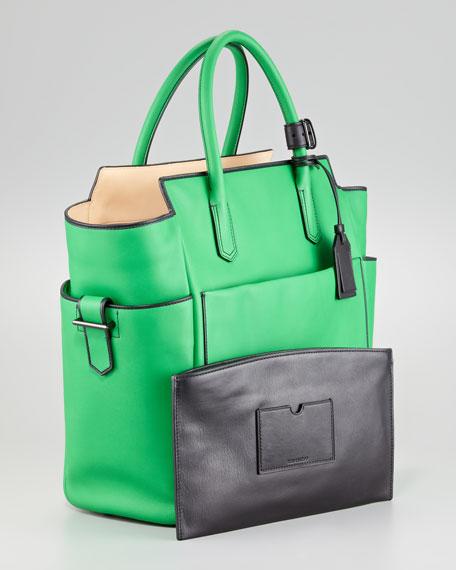Atlantique Tote Bag, Zephyr/Black