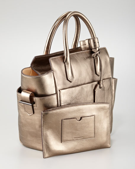 Mini Atlantique Tote Bag, Gold