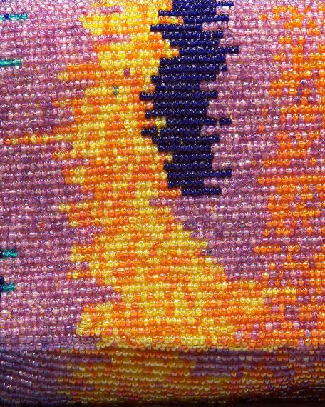 Tie-Dye Beaded Clutch Bag