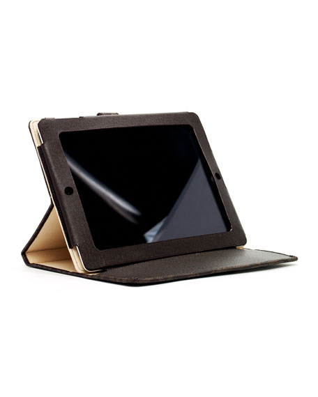 iPad Stand, Brown MK Logo Print