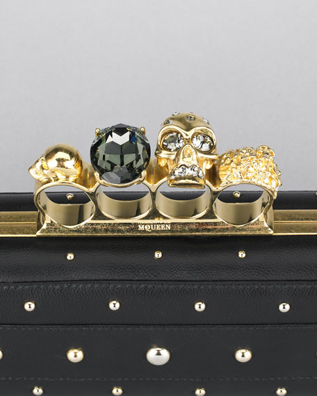 Studded Knuckle-Duster Clutch Bag