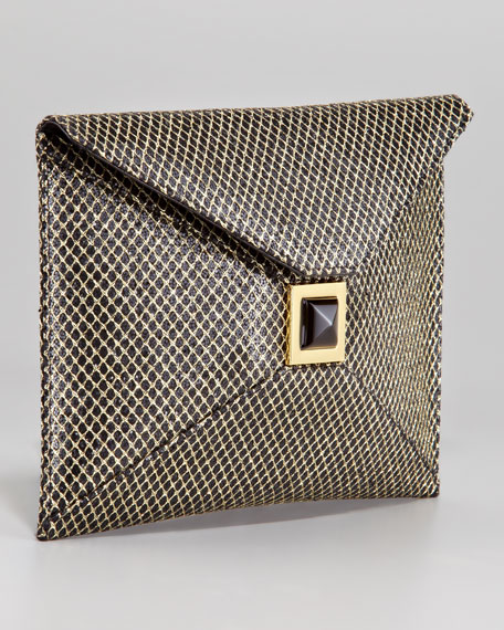 Prunella Diamond-Glitter Clutch Bag