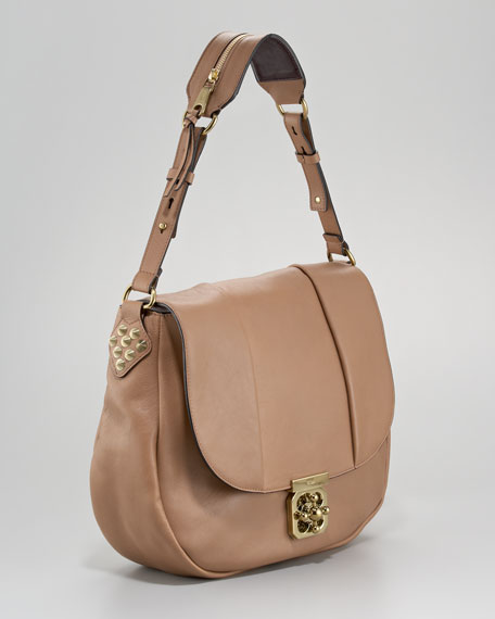 Elise Neo-Folk Hobo Bag, Medium