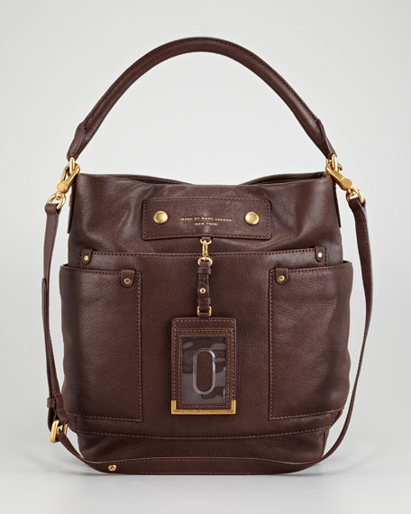 Preppy Leather Hobo Bag