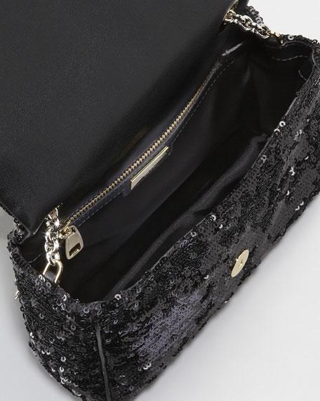Miss Charles Sequined Shoulder Bag