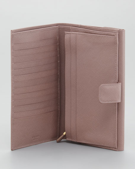 Saffiano Continental Wallet, Large