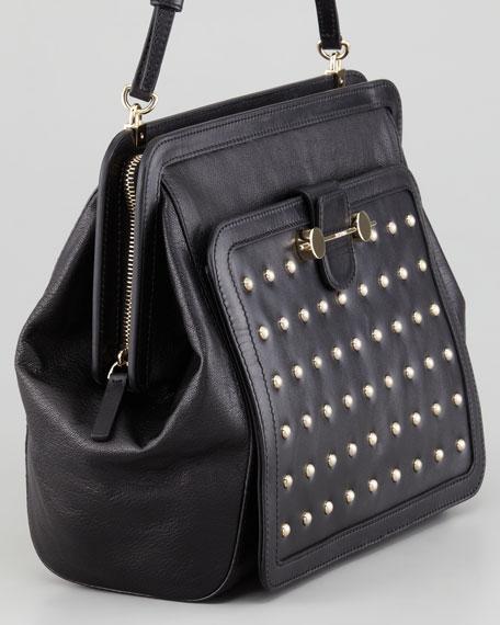 Daphne Warrior Shoulder Bag, Black
