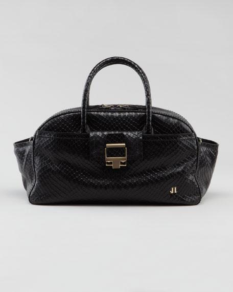 Python-Embossed JL Bowling Bag