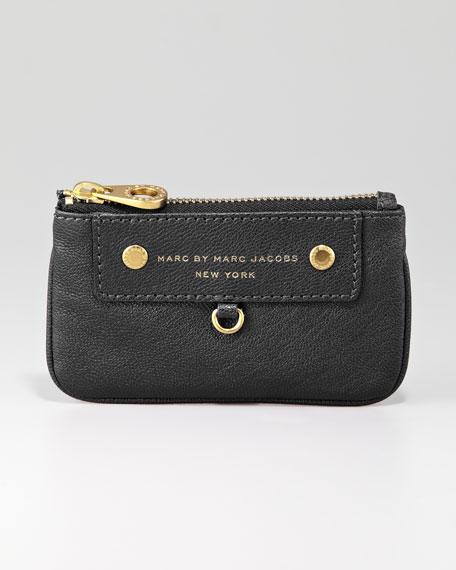 Preppy Leather Key Pouch