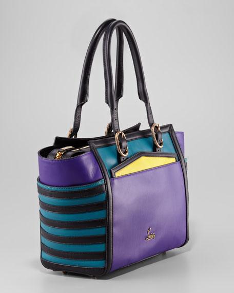 Farida Colorblock Bowler Bag