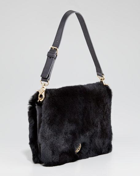 Peyson Rabbit Fur Fold-Over Clutch Bag
