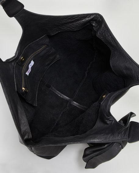 Large-Bow Hobo Bag