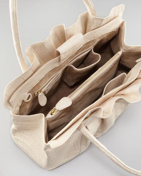 Ruffle-Top Tote Bag