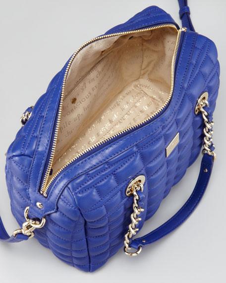 kaiya quilted satchel