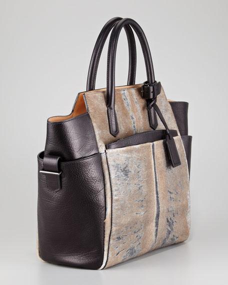 Atlantique Tote Bag, Leather/Calf Hair Mix