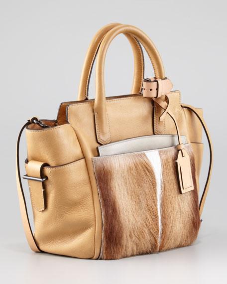 Atlantique Mini Fur/Leather Tote Bag, Spring