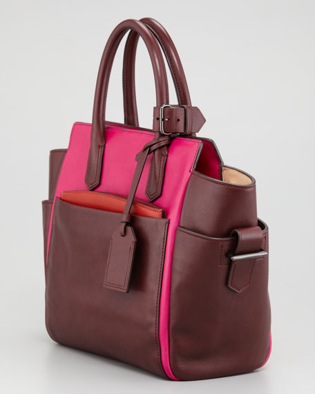 Atlantique Mini Tote Bag, Crimson