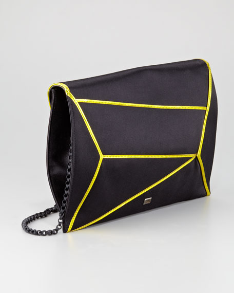 Matrix Asymmetric Envelope Clutch Bag