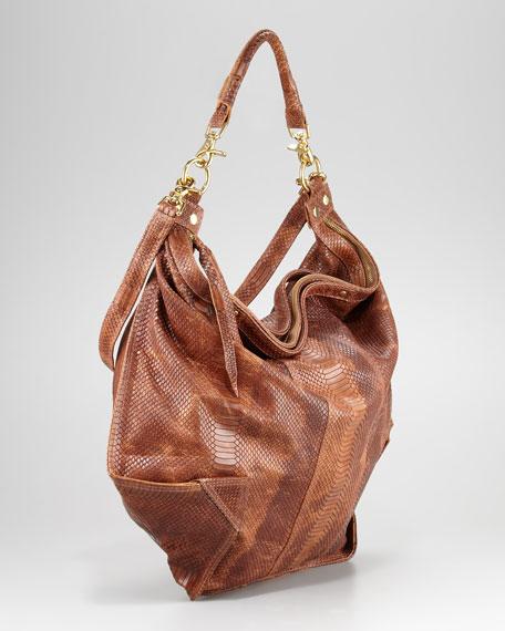 Snake-Embossed Dunnaway Tote Bag