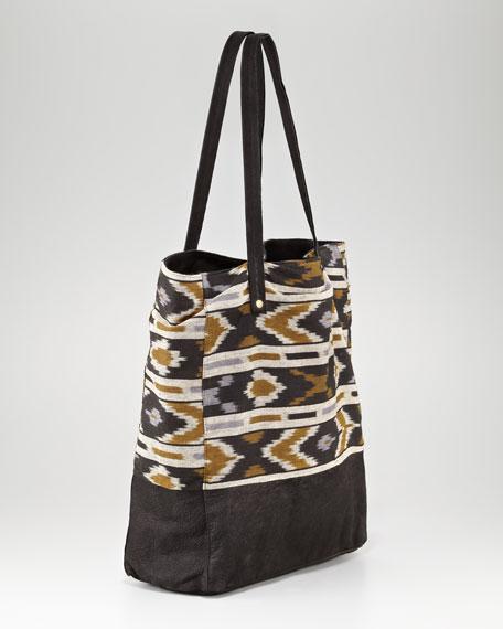 Ikat-Print Ex-Boyfriend Shopping Tote Bag