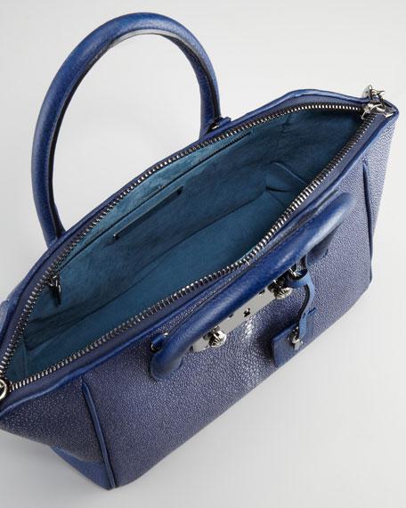 Brera Stingray Satchel Bag, Midnight