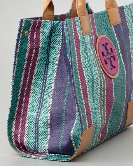 Ella Large Striped Tote Bag, Tribe Violet