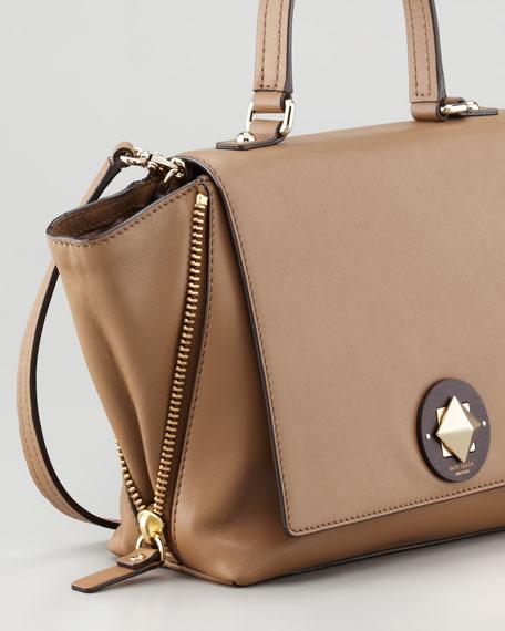 little west 12th abbie satchel bag, dune