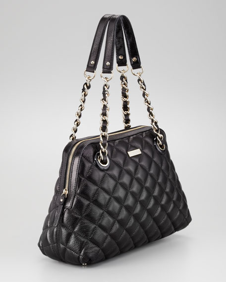 gold coast georgina shoulder bag, black
