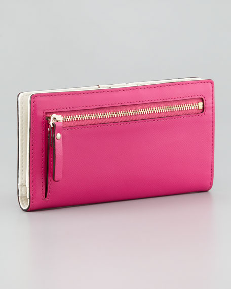 mikas pond stacy continental wallet, vivid snapdragon
