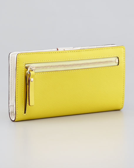 mikas pond stacy continental wallet, vivid yellow