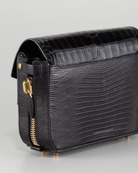 Tri-Fold Shoulder Bag, Black