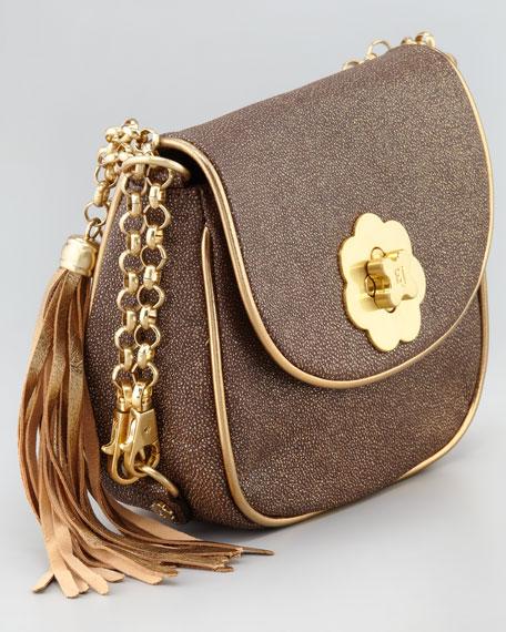 Oh Baby Small Crossbody Bag, Bronze Glitter