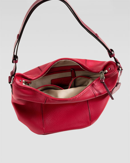 Crosby Bucket Bag, Red