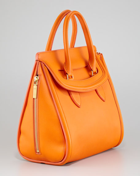 Medium Heroine Satchel Bag, Orange