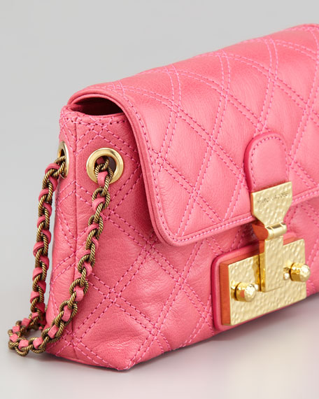 The Single Baroque Quilted Bag, Bubblegum