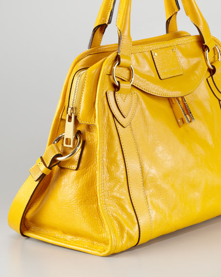 Classic Wellington Satchel Bag,  Yellow