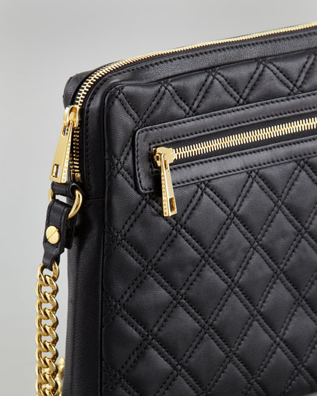 Quilted Lambskin iPad Case, Black