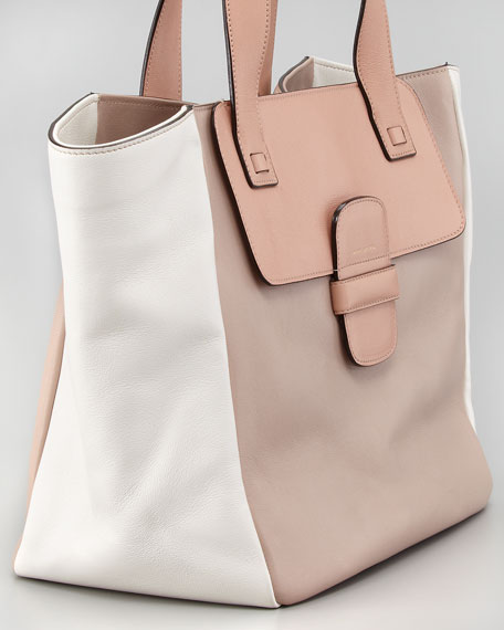 Lambskin Paneled Tote Bag, Make-Up