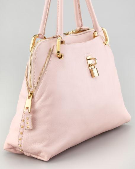 Rio Satchel Bag, Pale Pink