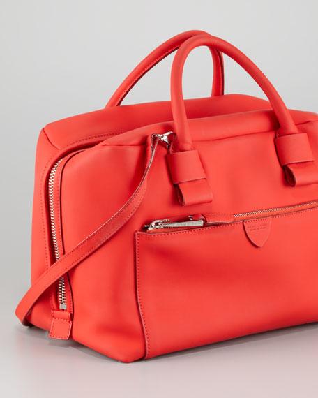 Antonia Small Satchel Bag, Red