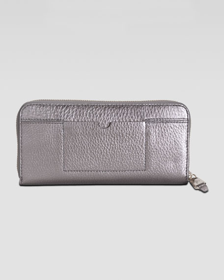 Linley Travel Zip-Around Wallet, Gunsmoke