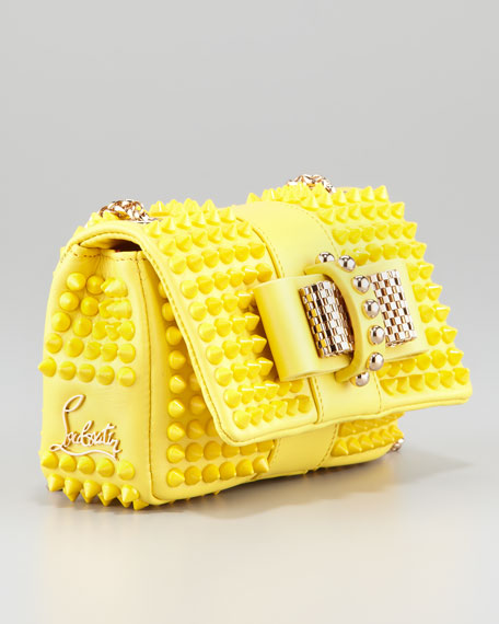 77a26d4743c Sweet Charity Mini Spiked Shoulder Bag Yellow