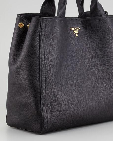 Daino New Large Tote Bag, Nero
