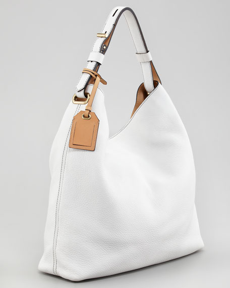 Standard Hobo Bag, Optic White