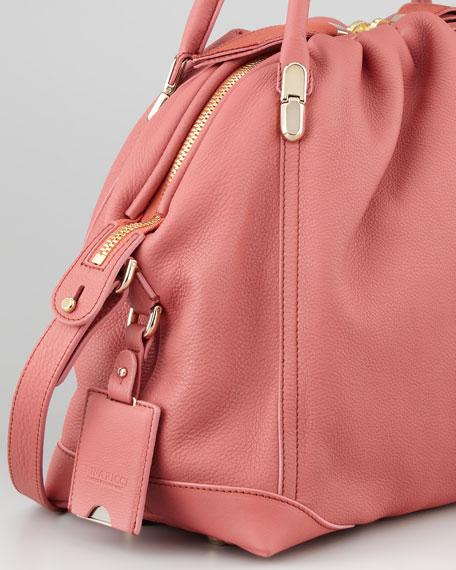 La Ru Satchel Bag, Terracotta