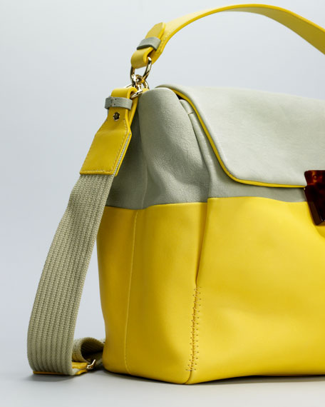For Me Medium Bag, Sea Green/Yellow