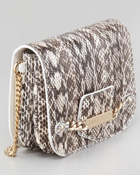 Shadow Snakeskin Crossbody Bag, Natural