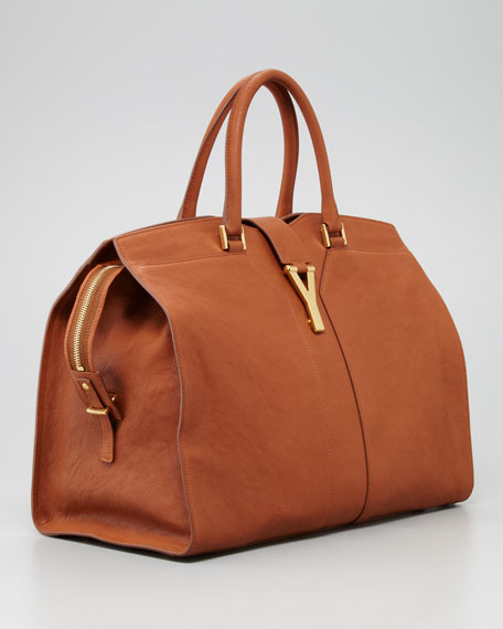 Y Ligne Large Tote Bag, Brown